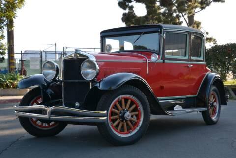 1928 Hupmobile Century Six Opera Coupe for sale at Milpas Motors in Santa Barbara CA