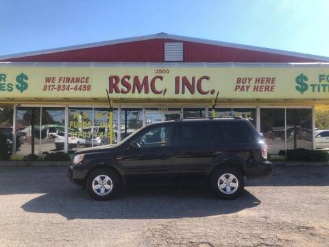 2008 Honda Pilot for sale at Ron Self Motor Company in Fort Worth TX
