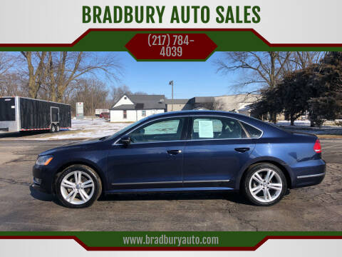 2014 Volkswagen Passat for sale at BRADBURY AUTO SALES in Gibson City IL