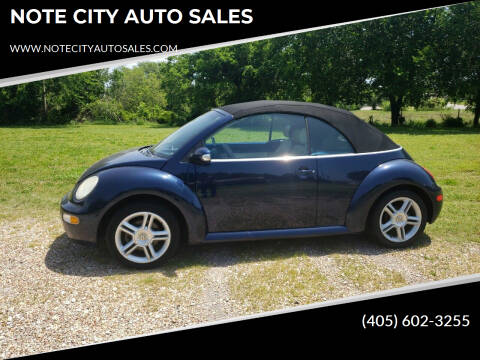 2005 Volkswagen New Beetle Convertible for sale at NOTE CITY AUTO SALES in Oklahoma City OK