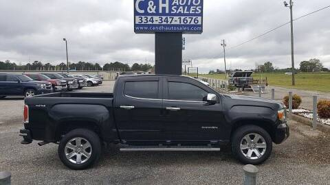 2016 GMC Canyon for sale at C & H AUTO SALES WITH RICARDO ZAMORA in Daleville AL