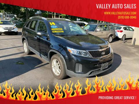 2014 Kia Sorento for sale at VALLEY AUTO SALES in Methuen MA