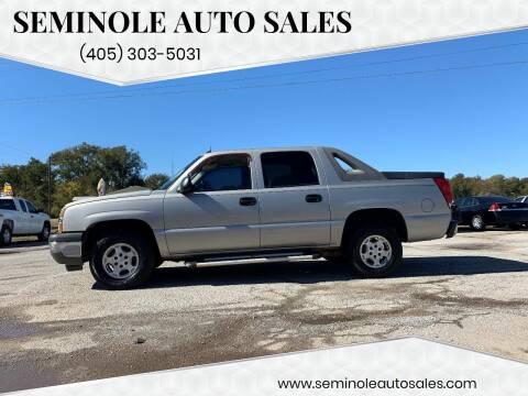 2005 Chevrolet Avalanche for sale at Seminole Auto Sales in Seminole OK