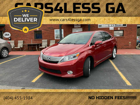 2010 Lexus HS 250h for sale at Cars4Less GA in Alpharetta GA