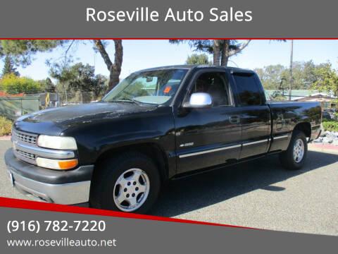 2000 Chevrolet Silverado 1500 for sale at Roseville Auto Sales in Roseville CA