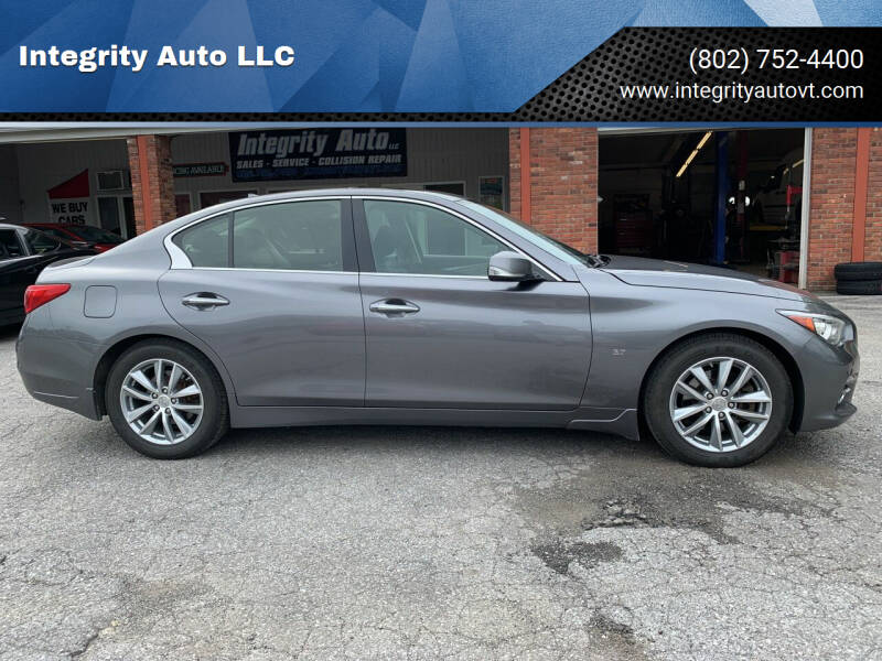 2014 Infiniti Q50 for sale at Integrity Auto LLC - Integrity Auto 2.0 in St. Albans VT