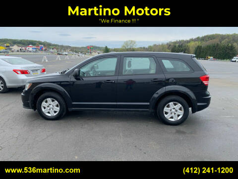 2012 Dodge Journey for sale at Martino Motors in Pittsburgh PA