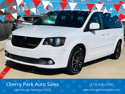 2015 Dodge Grand Caravan for sale at Cherry Park Auto Sales in Houston TX