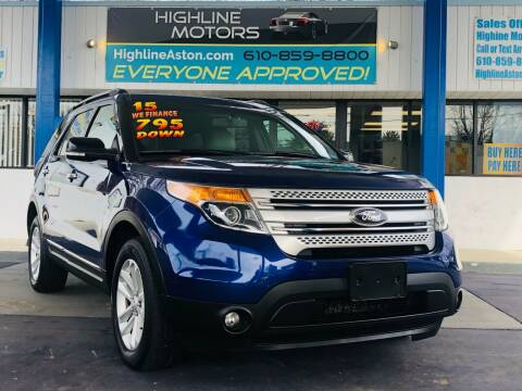 2015 Ford Explorer for sale at Highline Motors in Aston PA