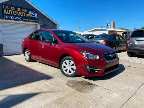 2016 Subaru Impreza for sale at Dalton George Automotive in Marietta OH