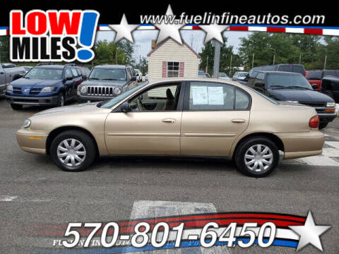 2003 Chevrolet Malibu for sale at FUELIN FINE AUTO SALES INC in Saylorsburg PA