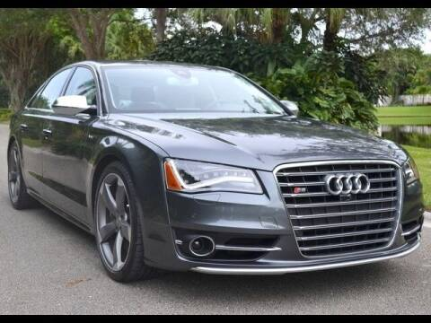 2013 Audi S8 for sale at The New Auto Toy Store in Fort Lauderdale FL