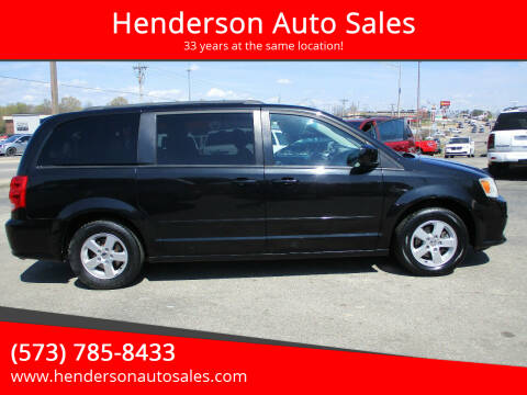 2012 Dodge Grand Caravan for sale at Henderson Auto Sales in Poplar Bluff MO