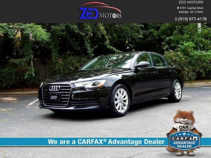 2013 Audi A6 for sale at Zed Motors in Raleigh NC