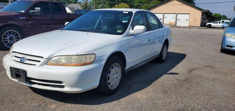 2001 Honda Accord for sale at AUTO NETWORK LLC in Petersburg VA