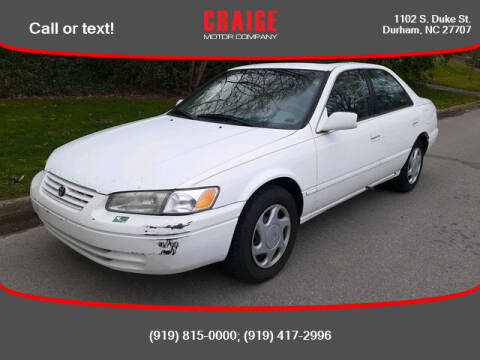 1997 Toyota Camry for sale at CRAIGE MOTOR CO in Durham NC