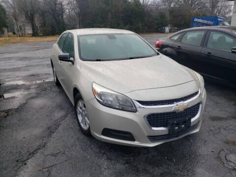2014 Chevrolet Malibu for sale at Lara's Auto Sales LLC in Concord NC