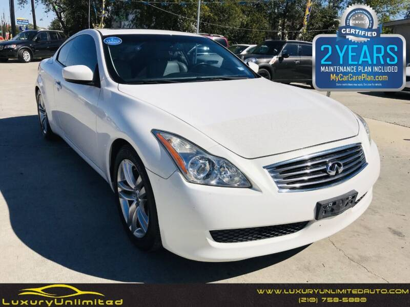 2009 Infiniti G37 Coupe for sale at LUXURY UNLIMITED AUTO SALES in San Antonio TX