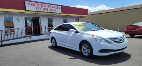 2014 Hyundai Sonata for sale at Henry's Autosales, LLC in Reno NV