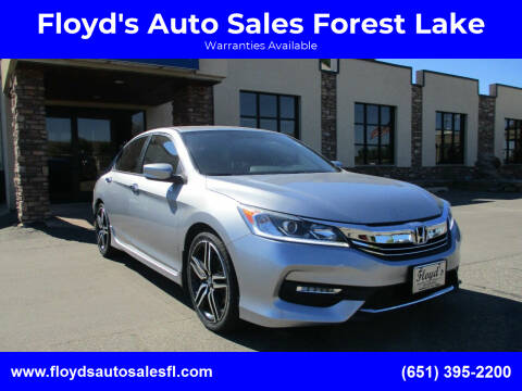2017 Honda Accord for sale at Floyd's Auto Sales Forest Lake in Forest Lake MN