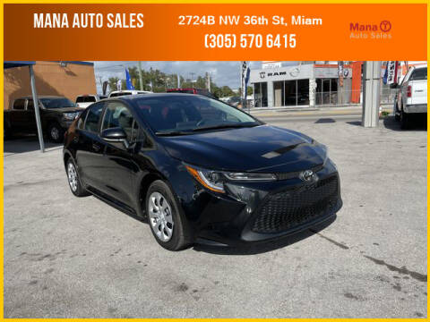 2020 Toyota Corolla for sale at MANA AUTO SALES in Miami FL