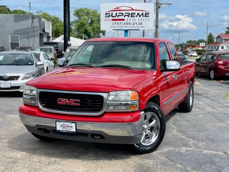 2001 GMC Sierra 1500 for sale at Supreme Auto Sales in Chesapeake VA