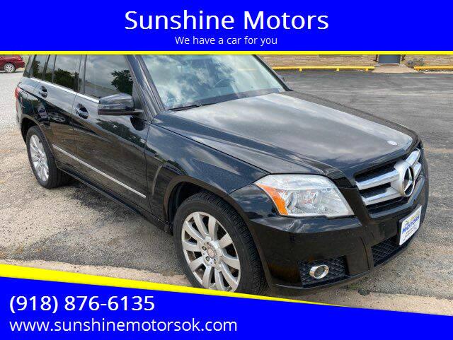 2012 Mercedes-Benz GLK for sale at Sunshine Motors in Bartlesville OK