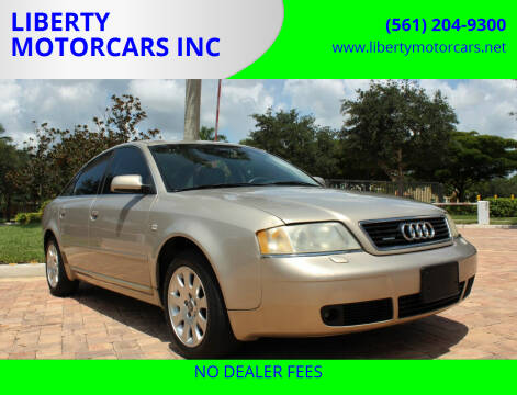 2001 Audi A6 for sale at LIBERTY MOTORCARS INC in Royal Palm Beach FL