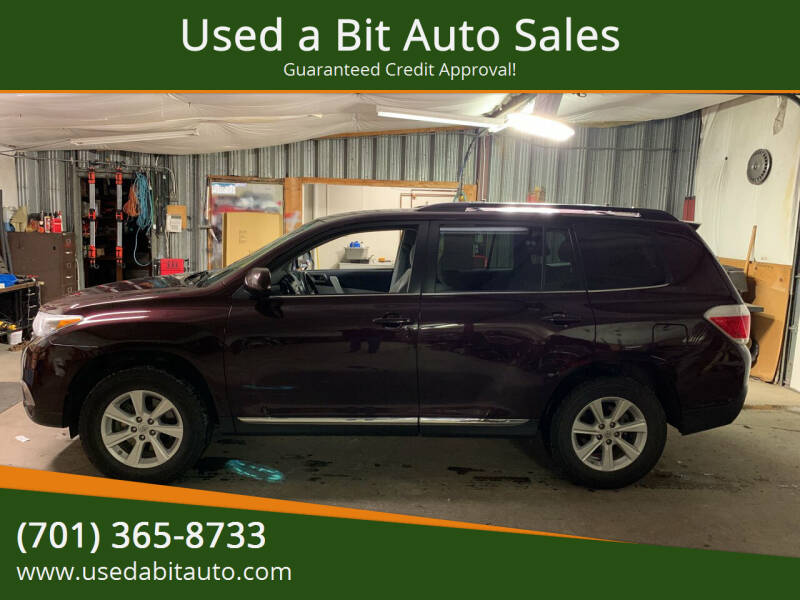 2012 Toyota Highlander for sale at Used a Bit Auto Sales in Fargo ND