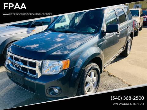 2009 Ford Escape for sale at FPAA in Fredericksburg VA