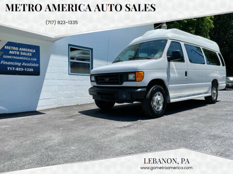 2005 Ford E-Series Cargo for sale at METRO AMERICA AUTO SALES of Lebanon in Lebanon PA