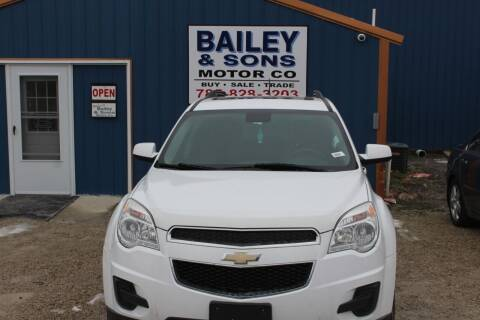 2013 Chevrolet Equinox for sale at Bailey & Sons Motor Co in Lyndon KS
