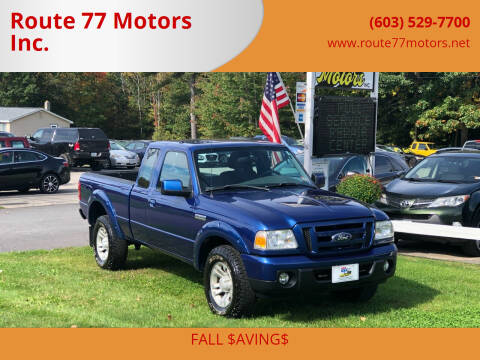 2010 Ford Ranger for sale at Route 77 Motors Inc. in Weare NH
