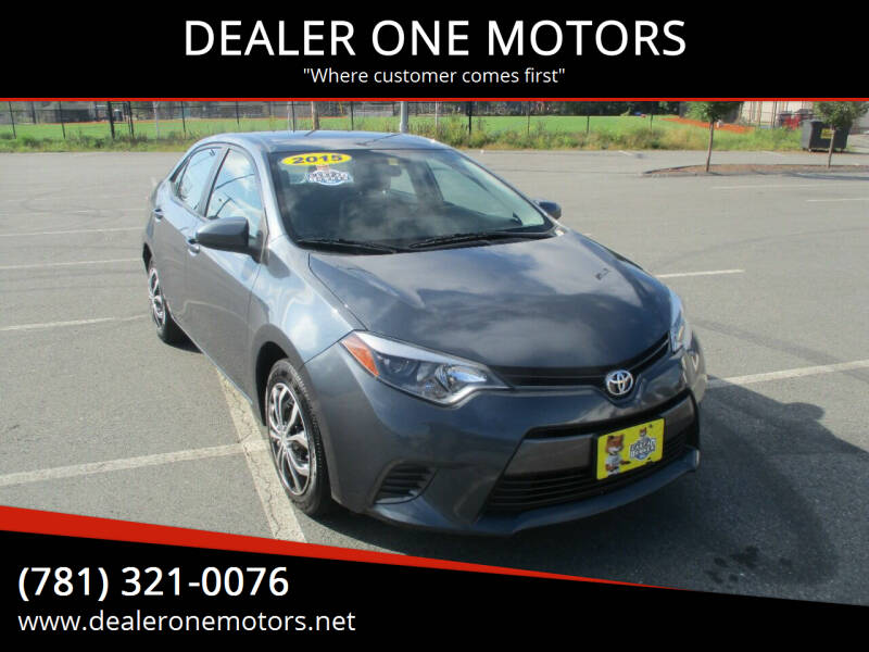 2015 Toyota Corolla for sale at DEALER ONE MOTORS in Malden MA