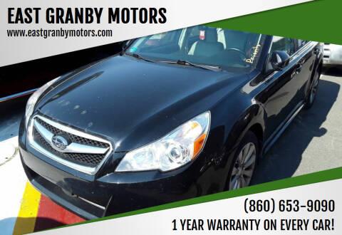 2011 Subaru Legacy for sale at EAST GRANBY MOTORS in East Granby CT