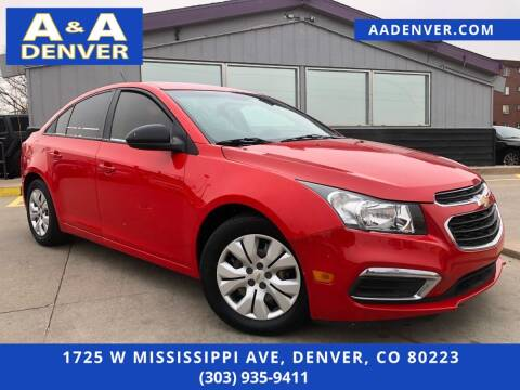 2015 Chevrolet Cruze for sale at A & A AUTO LLC in Denver CO