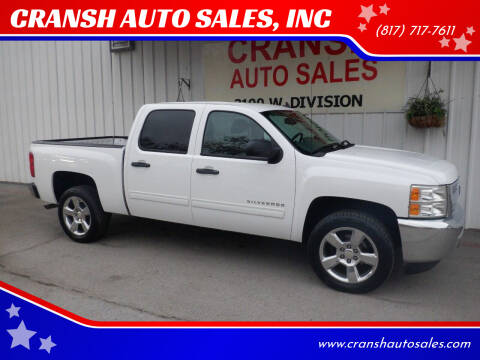 2013 Chevrolet Silverado 1500 for sale at CRANSH AUTO SALES, INC in Arlington TX