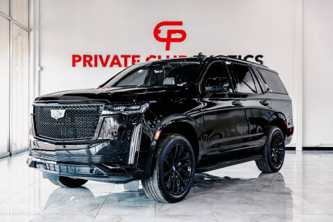 2021 Cadillac Escalade for sale at Private Club Motors in Houston TX
