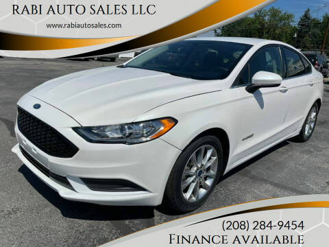 2017 Ford Fusion Hybrid for sale at RABI AUTO SALES LLC in Garden City ID