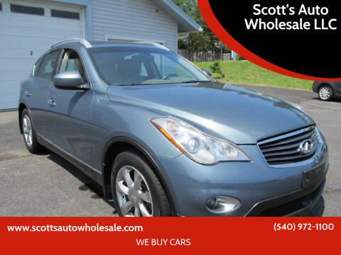 2008 Infiniti EX35 for sale at Scott's Auto Wholesale LLC in Locust Grove VA