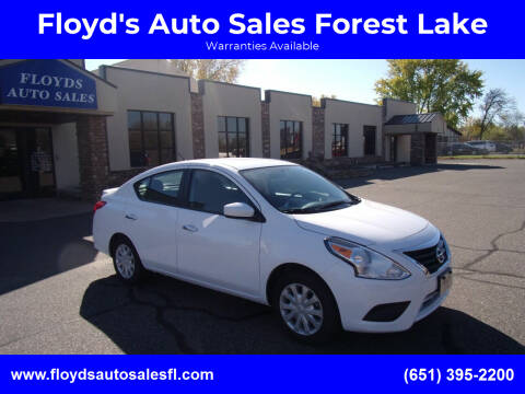 2019 Nissan Versa for sale at Floyd's Auto Sales Forest Lake in Forest Lake MN