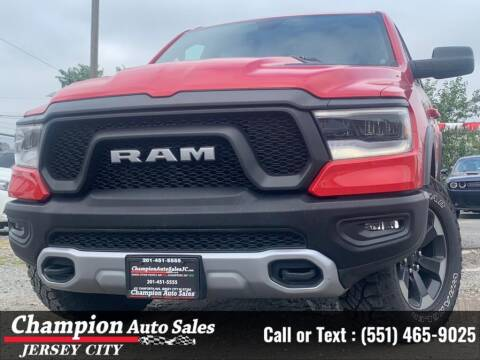 2019 RAM Ram Pickup 1500 for sale at CHAMPION AUTO SALES OF JERSEY CITY in Jersey City NJ