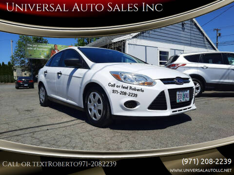 2013 Ford Focus for sale at Universal Auto Sales Inc in Salem OR