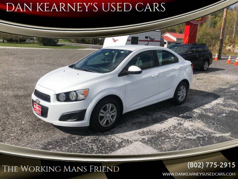 2014 Chevrolet Sonic for sale at DAN KEARNEY'S USED CARS in Center Rutland VT