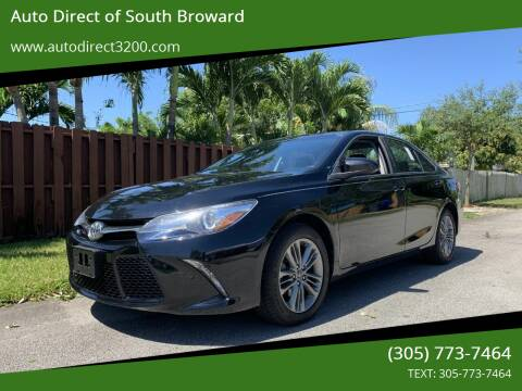 2017 Toyota Camry for sale at Auto Direct of South Broward in Miramar FL
