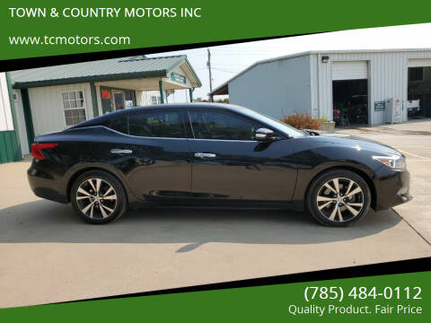 2017 Nissan Maxima for sale at TOWN & COUNTRY MOTORS INC in Meriden KS
