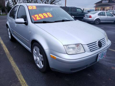 2003 Volkswagen Jetta for sale at Low Price Auto and Truck Sales, LLC in Brooks OR