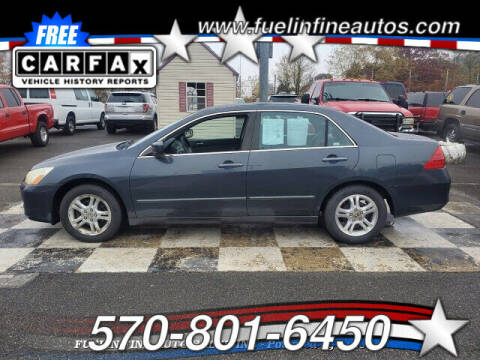 2006 Honda Accord for sale at FUELIN FINE AUTO SALES INC in Saylorsburg PA