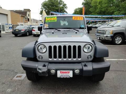 2015 Jeep Wrangler for sale at Elmora Auto Sales in Elizabeth NJ