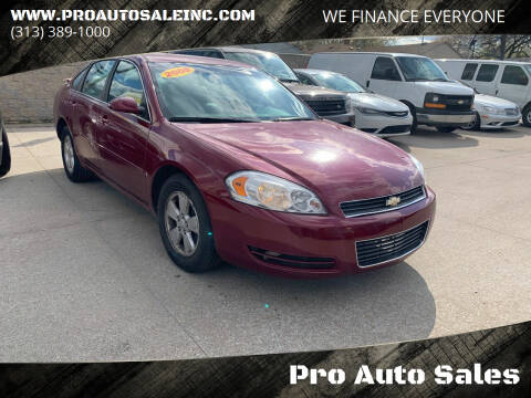2008 Chevrolet Impala for sale at Pro Auto Sales in Lincoln Park MI